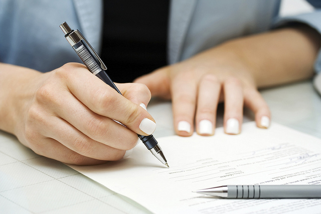 person-signing